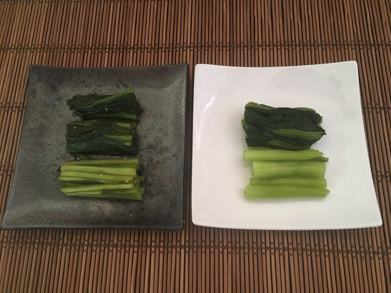小松菜のぬか漬けと野沢菜