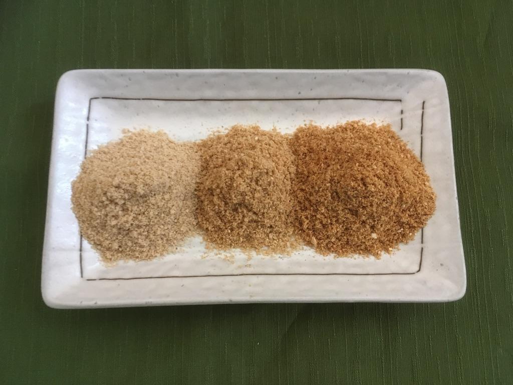 炒った後の米ぬか