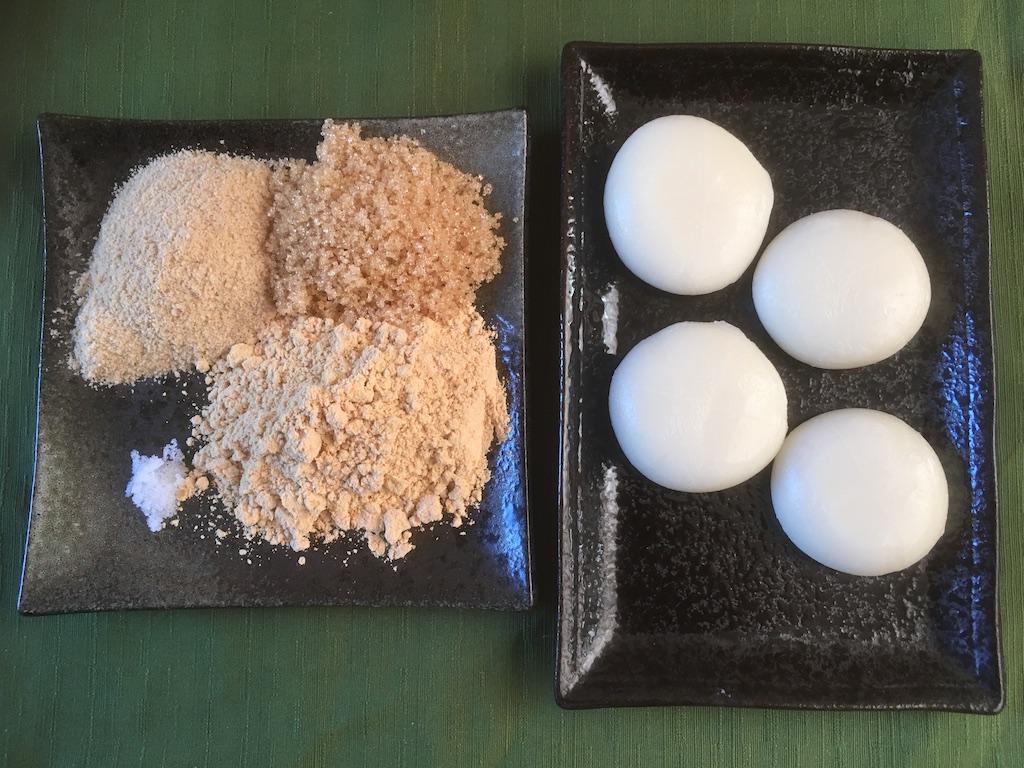 米ぬかを使ったきな粉餅のレシピの材料