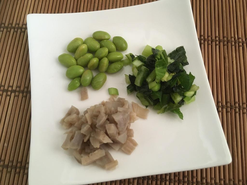 枝豆と小松菜とれんこんのぬか漬け