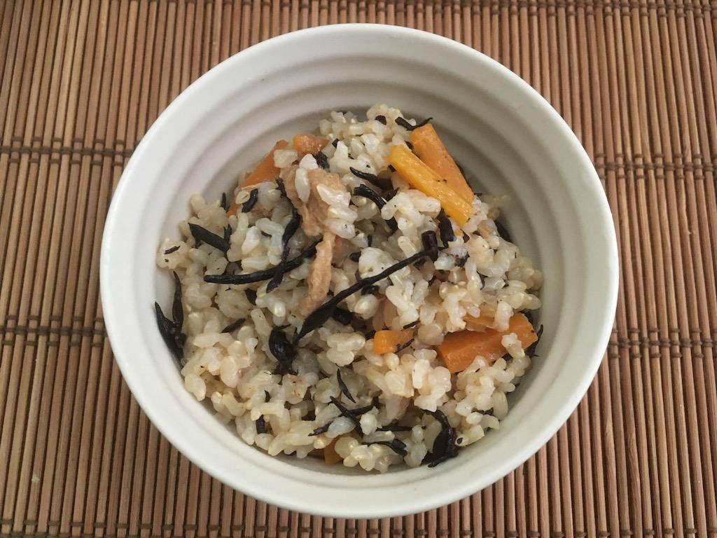 ひじきと玄米の炊き込みご飯②