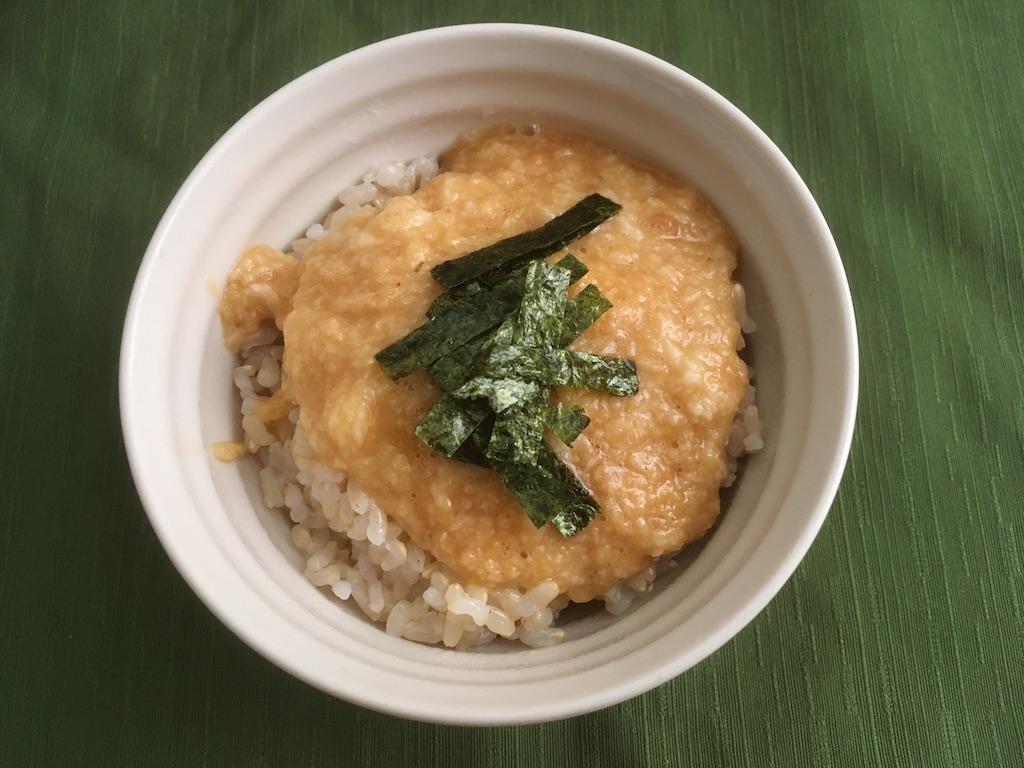 玄米のとろろご飯のレシピ①