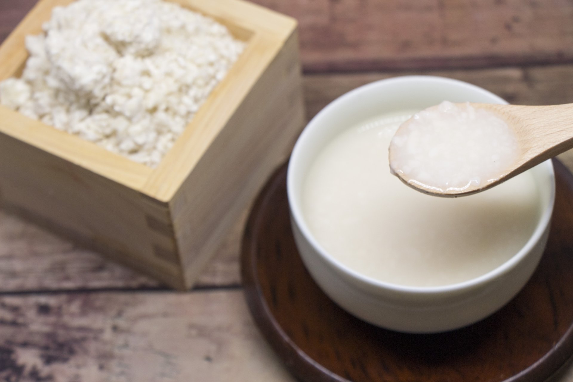 米麹から作る甘酒