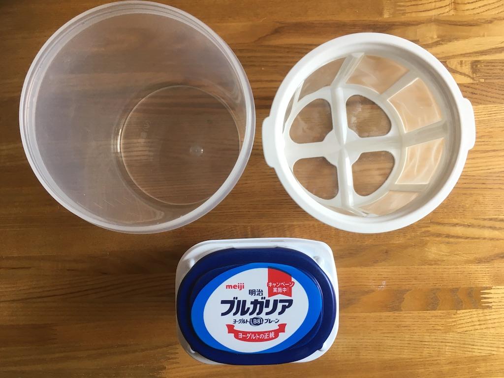 水切りヨーグルトを作る時に用意するもの