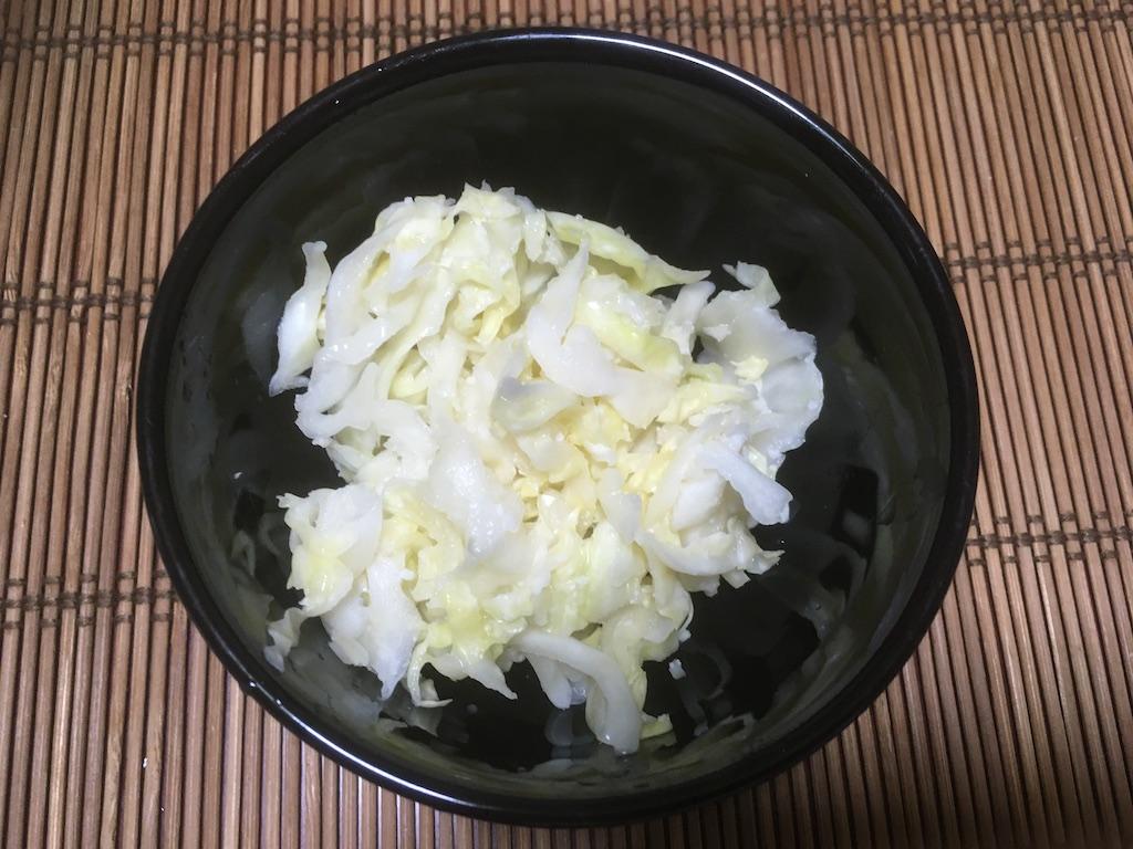 キャベツの塩麹漬け②