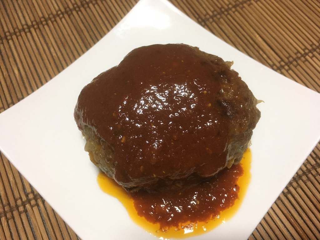 合い挽き肉×塩麹のハンバーグ②
