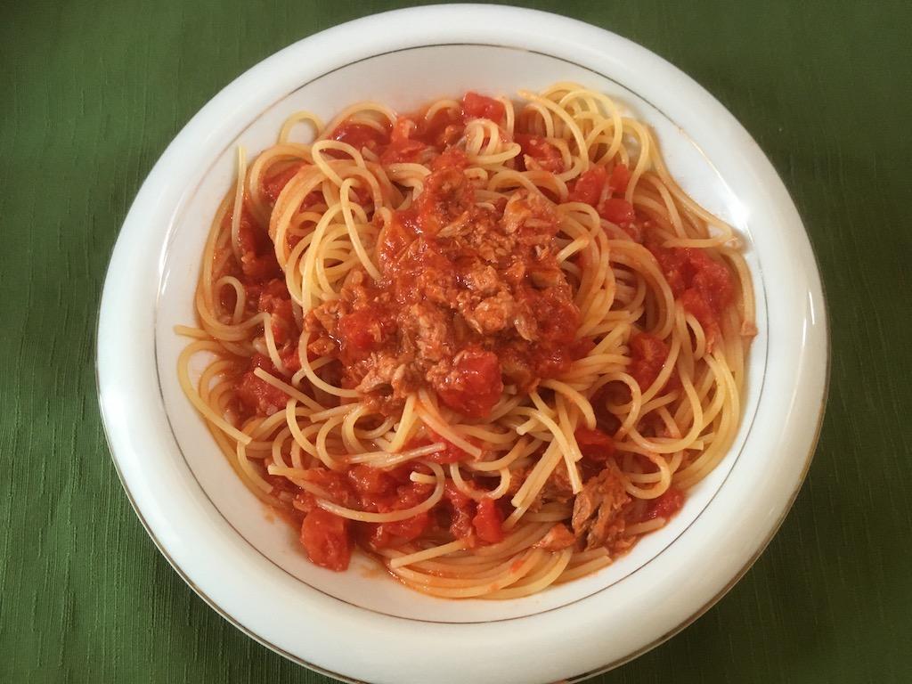 ツナと塩麹トマトパスタ